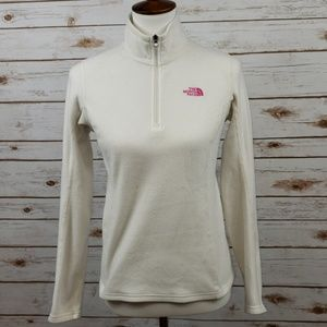 The North Face Pink Ribbon Ivory Fleece Pullover S